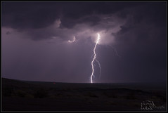 Lightning Strike East of Danby (K-Szok-Photography) Tags: california night clouds canon outdoors nightimages desert socal 5d nightshots canon5d lightning canondslr mojavedesert lightningstrike thunderbolt thunderstroms desertbeauty sbcusa kenszok kszokphotography