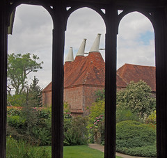 oast house through window (KAP_photo) Tags: heritage kent countryhouses oasthouse