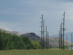 OldWorksPowerTowersEast07.14 (Gallstones) Tags: mountains mt powerlines anaconda bigsky rockymountains gallstones powerpoles theecoyote