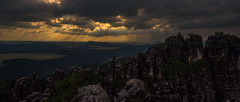 Gewitterstimmung in den Schrammsteinen (H.Kunath) Tags: dresden x climbing sachsen wandern elbe klettern lilienstein schsischeschweiz climbin elbsandsteingebirge knigstein schrammsteine affensteine