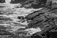 rocks, surf, Christmas Cove, Monhegan, Maine, Nikon D40, nikon nikkor 105mm f-4, 9.1.14 (steve aimone) Tags: ocean sea blackandwhite seascape monochrome nikon rocks surf maine monochromatic nikkor atlanticocean f4 monhegan seacoast grays 105mm monheganisland christmascove nikond40