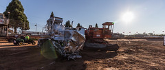 The Aftermath (A.D.Gibson) Tags: park sunset tractor oregon truck pull demolition combine derby banks 2014