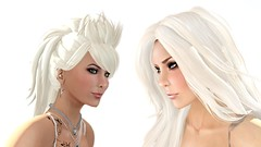 The Sound Of White (alexandriabrangwin) Tags: world woman white beautiful tattoo computer pose hair poster glasses 3d model graphics women shot no makeup jewelry secondlife virtual blonde styles haunting females platinum cgi mondybristol sttease alexandriabrangwin