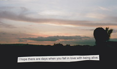 i hope those days happen often (-carlywatson) Tags: sunset love film canon ae1 quote