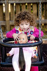 """she said: """"it's my doll's turn"""" :) (rjwramos) Tags: park baby cute greek photography nikon doll lovely photooftheday"""