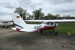 D-EAFT (IndiaEcho Photography) Tags: england canon airplane eos airport aircraft aviation aeroplane 150 civil dorset reims bournemouth deaft cessna airfield boh hurn eghh 1000d