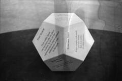 Philosopher's Cube (Wasser_Keine_get_Feind) Tags: blackandwhite toronto contrast dark moody emotion room voigtlander trix philosophy cube artexhibit filmdestroyers