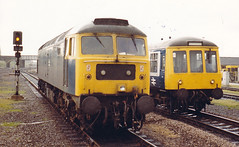 00992 47520 Peterborough Station 25.06.85 (31417) Tags: peterborough duff 47 47520