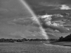 Monochromatic Approach (Kingshuk Mondal) Tags: blackwhite rainbow kingshuk sundarban sundarbannationalpark kingshukmondal