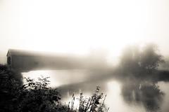 Morning Fog at Buskirk's Bridge (TW Collins) Tags: morning mist newyork fog upstate coveredbridge latesummer buskirk washingtoncounty hoosicriver groundcloud rensselaercounty circa1850 buskirkbridge buskirksbridge