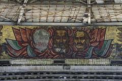 Red Triptych (Subversive Photography) Tags: portrait building abandoned concrete mural ruins triptych decay communist bulgaria urbanexploration soviet mosiac derelict defaced urbex buzludzha ruinsofmodernity danielbarter