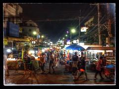 busy night (paddy_bb) Tags: street travel thailand asia cityscape nightscape market ngc nightmarket huahin th 2013 prachuapkhirikhan iphone4s paddybb
