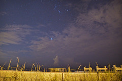 Sept 4 (rowe_rosemary) Tags: longexposure nightphotography beach night clouds mississippi dark stars darkness south earlymorning nightsky amateur nikond3200 mississippigulfcoast nightclouds d3200