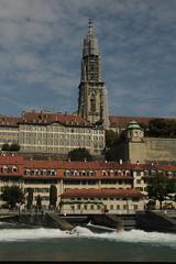 Berner Münster ( Reformierte Stadtkirche - Kirche - Church - Eglise - Chiesa => Grundstein 1421 => Bauende 1893 => Turmhöhe 100.6m ) in der Altstadt - Stadt Bern über der Aare ( Fluss - River ) im Kanton Bern in der Schweiz (chrchr_75) Tags: chriguhurnibluemailch christoph hurni schweiz suisse switzerland svizzera suissa swiss kantonbern chrchr chrchr75 chrigu chriguhurni 1409 september 2014 hurni140908 albumaare fluss river aare suiss hurni140907 albumstadtbern stadt city ville bern berne berna bärn bundesstadt zähringerstadt unesco welterbe altstadt hauptstadt schweizer meinbern stadtbern シティ by 城市 città город stad ciudad sveitsi sviss スイス zwitserland sveits szwajcaria suíça suiza berner münster kirche church eglise chiesa albumbernermünster albumaarebernschwellenmätteliwehrfelsenau