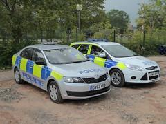 HQ Gwent Police, Croesyceiliog, Cwmbran 6 September 2014 (Cold War Warrior) Tags: ford police skoda cwmbran emergencyservices policeford natosummit croesyceiliog gwentpolice policeskoda