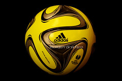 UEFA EUROPA LEAGUE 2014-15 WINTER ADIDAS MATCH BALL 02 (ykyeco) Tags: schnee winter snow yellow ball football high europa fussball top soccer hiver nieve ballon 15 match bola adidas uefa league pelota visibility palla balon pallone pilka 2014  omb  spielball powerorange