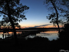 Mauthe Lake at Dusk (JBtheExplorer) Tags: camping trees sunset lake water wisconsin forest pier state dusk kettle campground moraine mauthe