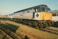 "Unbranded Triple Grey Class 47/7, 47702 ""County of Suffolk"" & 31519, 08599, 47278, & 08676 (37190 ""Dalzell"") Tags: dutch brian spoon rods ped duff wigan petroleum shunter goyle gronk class47 unbranded class31 class08 brblue 31519 class315 47278 triplegrey springsbranch brush4 civilengineers countyofsuffolk class470 class477 trainloadfreight 47702 shoveduff 08599 08676"