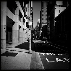 untitled (Albion Harrison-Naish (mostly off)) Tags: street blackandwhite monochrome architecture square sydney australia squareformat nsw newsouthwales unedited iphone mobilephotography explorenumber1 iphone4 johnslens castlereighstreet iphoneography sydneystreetphotography hipstamatic blackeyssupergrainfilm streetphotogoraphy