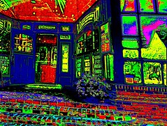 The Multicolored Pub Entrance  #1 (aeleazer1(Busy,Off/On)!!!) Tags: pink blue red black color art yellow upload gold golden virginia dc interestingness interesting pub purple random entrance dcist impressions multicolored impressionist iphone ipad metroarea colorpicture infinitescroll flickriver iphoneart aeleazer1 aeleazer andreeleazer ipadair