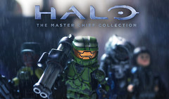 LEGO Halo : The Master Chief Collection Preview (MGF Customs/Reviews) Tags: lego chief rifle johnson halo battle collection master lel figure rocket plasma custom miranda smg terminals industries sgt launcher keyes 343 guardians covenant minifigure the arbiter brickarms tinytactical