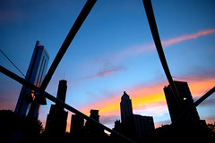 Sky Party (Andy Marfia) Tags: sunset summer chicago skyline architecture loop millenniumpark f4 beams pritzkerpavilion iso160 150sec d7100 1685mm