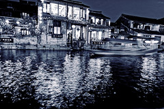 (b56n22) Tags: china night shanghai chinese dxo    polar  reflexion watertown    d810