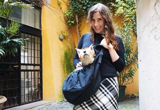 Gigi & Luna with the WagWear Shoulder Bag