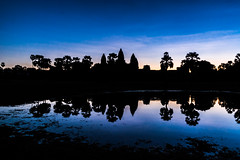 Dawn at Angkor Wat. Cambodia