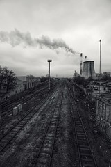 Urban melancholy. (rededia) Tags: city urban railway monochrome nikon d750 tamron transport steam industry industrial