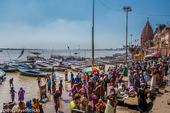 Boats in the Ganges (pcforprayashclicks) Tags: city varanasi benares india nikond3300 gods holy ganges ghats dashashwamedh incredible street boats sky incredibeindia natgeo travel kashi river