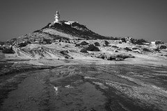 Faro del Cabo de la Huerta (bormanp) Tags: alicante aprendiendo blanco negro faro mar paisaje edificios mediterraneo reflejo cabo huerta naturaleza