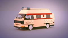 T3 German Ambulance (ron_dayes) Tags: german ambulance vw t 3 lego emergency vehicle