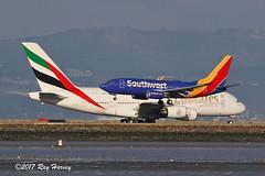 SFO (320-ROC) Tags: southwestairlines southwest emirates n569wn a6eoe boeing737 boeing737700 boeing7377ct boeing airbus airbussuper airbusa380 airbusa380800 airbusa380861 737 737700 7377ct b737 a380 a380800 a380861 a388 ksfo sfo sanfranciscointernationalairport sanfranciscoairport sanfrancisco