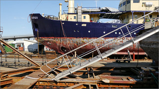 Schiffswerft in Tromsø / Shipyard in Tromsø