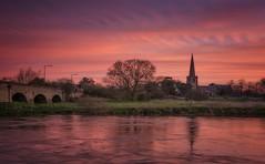 Dawn Chorus (Captain Nikon) Tags: dawn sunrise morningglory morning allsaintschurch harringtonbridge sawley derbyshire leicestershire rivertrent trent river reflections churchsteeple arches pastel nikond7100