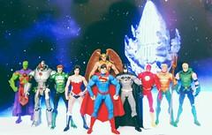 LEAGUE OF JUSTICE (Hotvanilla2011) Tags: dc collectibles justice league new 52 superman batman wonderwoman green lantern flash cyborg aquaman arrow martian manhunter