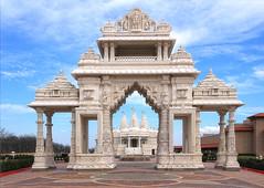 entrance to BAPS Shri Swaminarayan Mandir (LotusMoon Photography) Tags: mandir hinduism architecture building temple sacred ornamental design detailed bartlett illinois worldwide annasheradon lotusmoonphotography gate