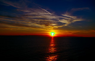 Two suns in the sunset