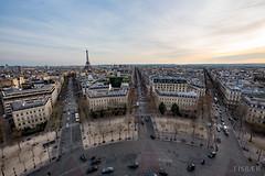 Paris vom Arc de Triomphe (EISBÆR) Tags: paris eiffelturm tour eiffel arc de triomphe