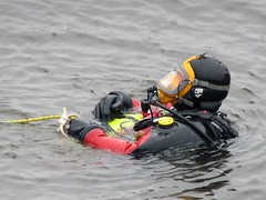 Dry in the water (chemsuiter) Tags: divetraining diveteam drill mabas sheboyganriver diver drysuit