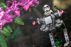 Imperial Scout Walker (Lego_LUTs) Tags: green yellow storm trooper star wars war lego outdoors clone troopers first order blasters afol minifigs minifigures bricks blocks canon toy toys force legos t3i republic people photoadd atst death rogue one dirt practical effects walker