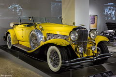 Duesenberg for Gatsby (Thad Zajdowicz) Tags: zajdowicz losangeles california petersenautomotivemuseum availablelight indoor inside museum canon eos 5dmarkiii 5d3 dslr digital lightroom ef50mmf12lusm 50mm primelens car automobile vehicle transportation duesenberg thegreatgatsby movie color yellow beautiful style colour