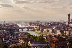 Firenze from Piazzale Michelangelo (Calabrese Filippo) Tags: ifttt 500px sunset italy orange romantic florence ponte vecchio arno piazzale michelangelo