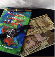 Two things that go faster then you can anticipate; Time and Money. Spend them wisely. #wise #time #money #spending #fallenlotuspetals #book #monies #novel #reading #bookclub #bookworm #bookofthemonthclub #dollars #change #fivedollars #dollarbills (Jordon Papanier) Tags: wise time money spending fallenlotuspetals book monies novel reading bookclub bookworm bookofthemonthclub dollars change fivedollars dollarbills
