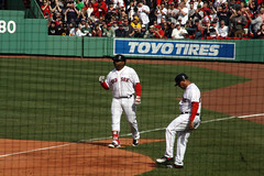 Panda after legging out an infield hit (ConfessionalPoet) Tags: redsox baseball openingday2017 pablosandoval thirdbaseman 3b baserunner infieldhit firstbase