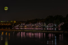 Boathouse Row, Philly (Bill Varney) Tags: boathouse row lights night reflection hot air balloon water outdoor philly billvarney cityscape
