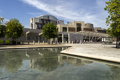 Scottish Parliament Building, Edinburgh (Colin Myers Photography) Tags: blue building sunshine colin photography scotland warm edinburgh skies scottish sunny parliament holy holyrood government blueskies rood myers scottishparliamentbuilding edinburghphotography colinmyersphotography