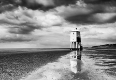 Low-Light (petefoto) Tags: longexposure lighthouse seascape cold beach rain reflections landscape wind cloudy stormy somerset gales coastal bleak filters beacon foreshore burnhamonsea polariser nd106 nikond700 leefilters09sgrad
