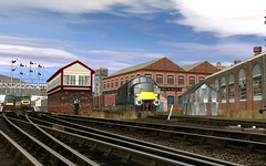 Cradley Bridge 2 (skodatrainz) Tags: tractor peak spoon trainz signalbox britishrailways class47 class37 semaphores class45 brgreen ts12 cradleybridge
